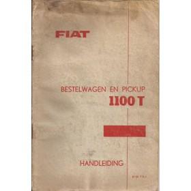 Fiat 1100T Instructieboekje  217C Benzine Fabrikant 62 met gebruikssporen lichte vochtschade  Nederlands