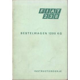 Fiat 238 Instructieboekje   Benzine Fabrikant 69 met gebruikssporen   Nederlands