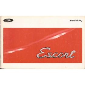 Ford Escort Instructieboekje  Mk1 Benzine Fabrikant 70 met gebruikssporen   Nederlands