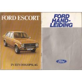 Ford Escort Instructieboekje  Mk2 Benzine Fabrikant 77 met gebruikssporen   Nederlands