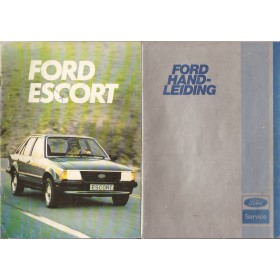 Ford Escort Instructieboekje  Mk3 Benzine Fabrikant 80 met gebruikssporen   Nederlands