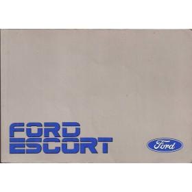 Ford Escort Instructieboekje  Mk3 Benzine/Diesel Fabrikant 87 met gebruikssporen   Nederlands