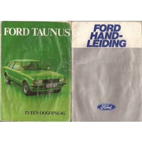 Ford Taunus Instructieboekje  TC2 Benzine Fabrikant 78 met gebruikssporen groot model, uitklapfolder vochtschade  Nederlands