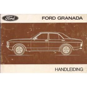 Ford Granada Instructieboekje   Benzine Fabrikant 75 met gebruikssporen   Nederlands