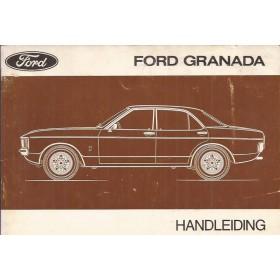 Ford Granada Instructieboekje   Benzine Fabrikant 75 met gebruikssporen vouwtje in achterkaft  Nederlands