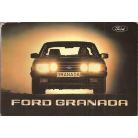 Ford Granada Instructieboekje   Benzine/Diesel Fabrikant 82 met gebruikssporen   Nederlands