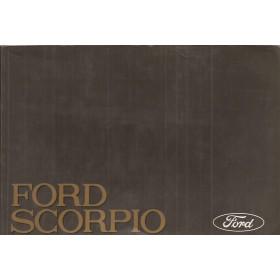 Ford Scorpio Instructieboekje   Benzine/Diesel Fabrikant 88 met gebruikssporen   Nederlands