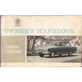 Ford Consul Cortina Instructieboekje   Benzine Fabrikant 64 met gebruikssporen   Engels