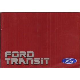 Ford Transit Instructieboekje   Benzine/Diesel Fabrikant 88 met gebruikssporen   Nederlands