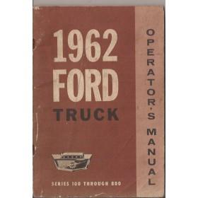 Ford USA Trucks Instructieboekje   Benzine Fabrikant 62 met gebruikssporen   Engels