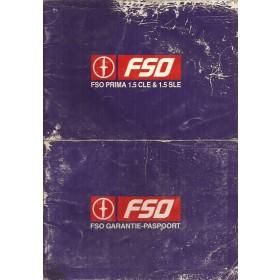 FSO Prima Instructieboekje   Benzine Fabrikant 88 met gebruikssporen lichte vochtschade  Nederlands