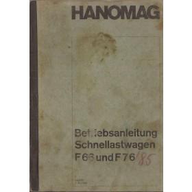 Hanomag F66/F76 Instructieboekje   Diesel Fabrikant 67 met gebruikssporen   Duits