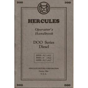 Hercules DOO-series Instructieboekje   Diesel Fabrikant 47 ongebruikt   Engels