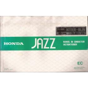 Honda Jazz Instructieboekje   Benzine Fabrikant 83 met gebruikssporen   Nederlands/Frans/Engels/Duits