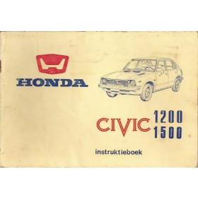 Honda Civic Mk1 Instructieboekje Benzine Fabrikant 77 met gebruikssporen witte kaft  Nederlands