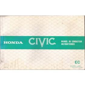 Honda Civic Mk2 Instructieboekje Benzine Fabrikant 80 met gebruikssporen   Nederlands/Frans/Engels/Duits