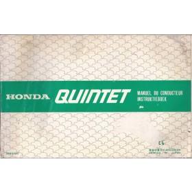 Honda Quintet Instructieboekje   Benzine Fabrikant 80 met gebruikssporen   Nederlands/Frans/Engels/Duits