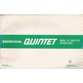 Honda Quintet Instructieboekje   Benzine Fabrikant 82 met gebruikssporen   Nederlands/Frans/Engels/Duits