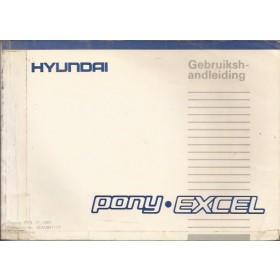 Hyundai Excel Instructieboekje   Benzine Fabrikant 87 met gebruikssporen   Nederlands/Frans