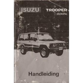 Isuzu Trooper Instructieboekje   Benzine Fabrikant 86 met gebruikssporen   Nederlands
