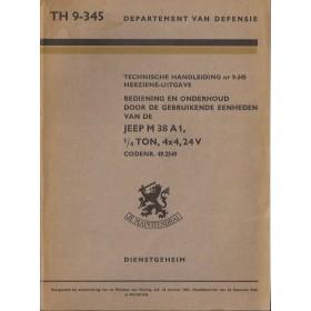 Jeep M38 A1 Instructieboekje   Benzine Fabrikant 55 ongebruikt   Nederlands