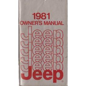 Jeep Alle modellen Instructieboekje   Benzine Fabrikant 81 met gebruikssporen   Engels