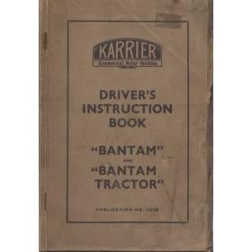 Karrier Bantam Instructieboekje   Benzine Fabrikant 40 met gebruikssporen   Engels