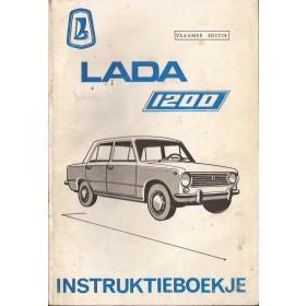 Lada 1200 Instructieboekje   Benzine Fabrikant 72-88 met gebruikssporen vlaamse editie  Nederlands