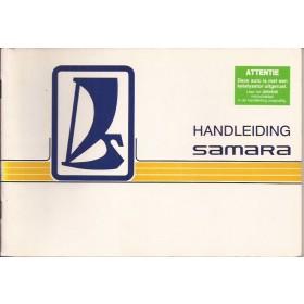 Lada Samara Instructieboekje   Benzine Fabrikant 89 met gebruikssporen   Nederlands