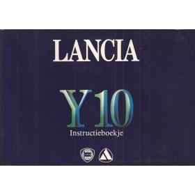 Lancia Y10 Instructieboekje   Benzine Fabrikant 86 met gebruikssporen lichte vochtschade  Nederlands