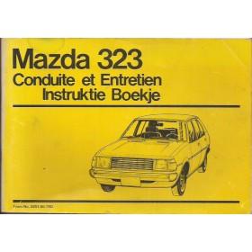 Mazda 323 Instructieboekje   Benzine Fabrikant 79 met gebruikssporen   Nederlands/Frans