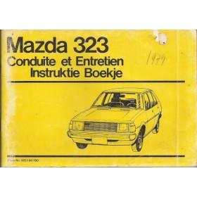 Mazda 323 Instructieboekje   Benzine Fabrikant 79 met gebruikssporen vouw in kaft  Nederlands/Frans