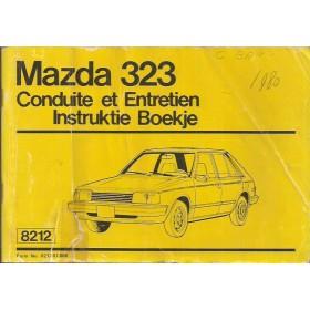 Mazda 323 Instructieboekje   Benzine Fabrikant 80 met gebruikssporen vouw in kaft  Nederlands/Frans