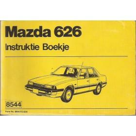 Mazda 626 Instructieboekje   Benzine Fabrikant 83 met gebruikssporen   Nederlands/Frans