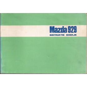 Mazda 929 Instructieboekje   Benzine Fabrikant 73 met gebruikssporen oude stijl kaft  Nederlands