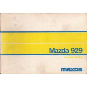 Mazda 929 Instructieboekje   Benzine Fabrikant 73 met gebruikssporen nieuwe stijl kaft  Nederlands