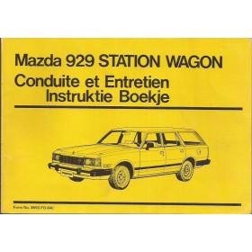 Mazda 929 Station Wagon Instructieboekje   Benzine Fabrikant 84 met gebruikssporen   Nederlands/Frans