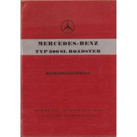 Mercedes-Benz 300SL Roadster Instructieboekje   Benzine Fabrikant 57 ongebruikt   Duits
