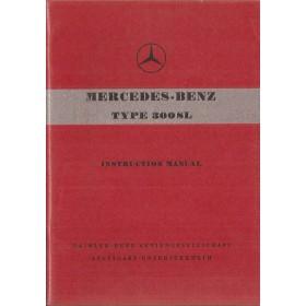 Mercedes-Benz 300SL Instructieboekje   Benzine Fabrikant 55 ongebruikt originele heruitgave MB uit 1980  Engels