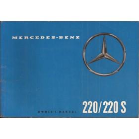 Mercedes-Benz 220/220S Instructieboekje   Benzine Fabrikant 59 ongebruikt   Engels