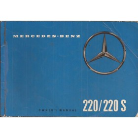 Mercedes-Benz 220/220S Instructieboekje   Benzine Fabrikant 59 met gebruikssporen   Engels