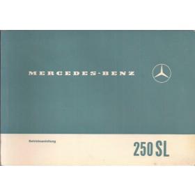 Mercedes-Benz 250SL Instructieboekje  W113 Benzine Fabrikant 67 ongebruikt   Duits
