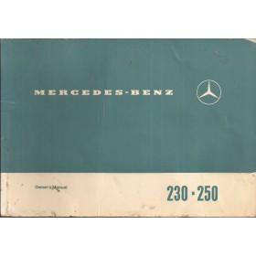 Mercedes-Benz 230/250 Instructieboekje   Benzine Fabrikant 68 met gebruikssporen   Engels