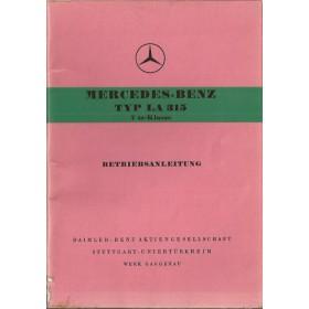 Mercedes-Benz LA 315 Instructieboekje   Benzine Fabrikant 54 met gebruikssporen   Duits