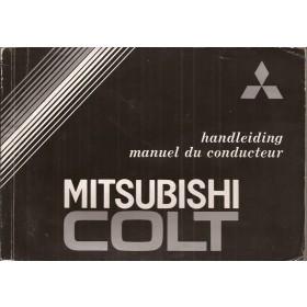 Mitsubishi Colt Instructieboekje   Benzine Fabrikant 86 met gebruikssporen   Nederlands/Frans