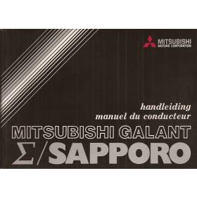 Mitsubishi Galant/Sapporo Instructieboekje   Benzine Fabrikant 78 met gebruikssporen   Nederlands/Frans