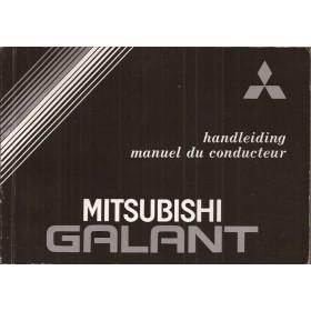 Mitsubishi Galant Instructieboekje   Benzine Fabrikant 87 met gebruikssporen   Nederlands/Frans