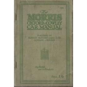 Morris Cowley/Oxford Instructieboekje   Benzine Fabrikant 26-28 met gebruikssporen   Engels