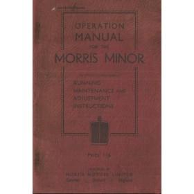 Morris Minor Instructieboekje   Benzine Fabrikant 33 met gebruikssporen   Engels