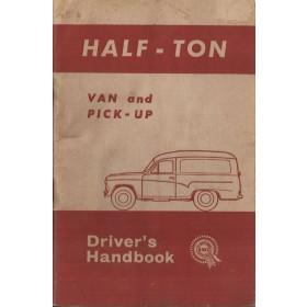 Morris Half Ton Van Instructieboekje   Benzine Fabrikant 62 met gebruikssporen   Engels